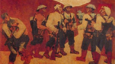 Painting 'Party admission ceremony in Dien Bien Phu': A national treasure