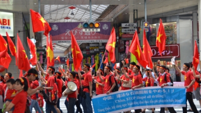 Vietnamese in Japan oppose China's illegal acts