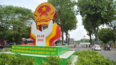 Hanoi streets decorated ahead of elections