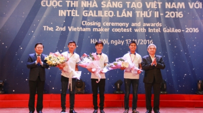 Robot design assisting the elderly wins first prize at Vietnam Maker Contest
