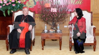 Hanoi Archdiocese extends greetings to Mass Mobilisation Commission