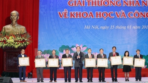 Winners of Ho Chi Minh, Sate Awards for Science and Technology announced