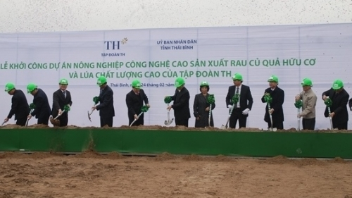 Work starts on VND3 trillion high-tech agricultural project in Thai Binh