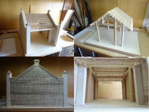 Japanese architect makes model of Vietnamese village gate
