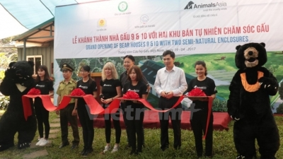 Two bear houses inaugurated in Vinh Phuc