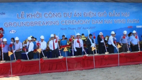 Work begins on Dam Nai wind farm in Ninh Thuan province