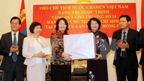 Vice President Thinh busy in Mongolia