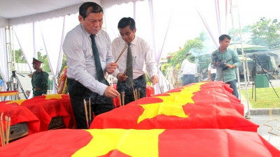 More remains of fallen Vietnamese soldiers repatriated from Laos