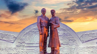 Monument featuring Uncle Ho and his father inaugurated in Binh Dinh