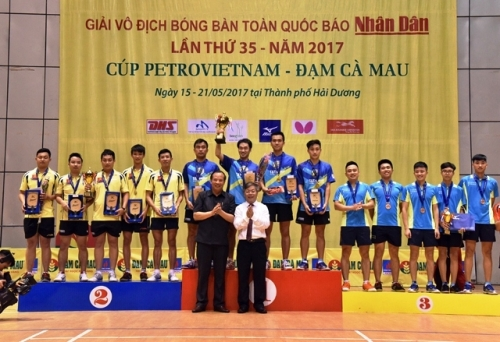 Nhan Dan Newspaper National table tennis championships concludes