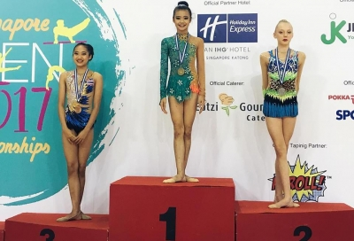 Gymnast Nguyen Ha My claims gold, silver in Singapore Open