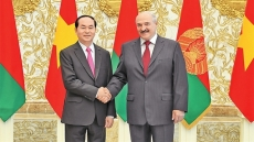 President Tran Dai Quang holds talks with President Lukashenko