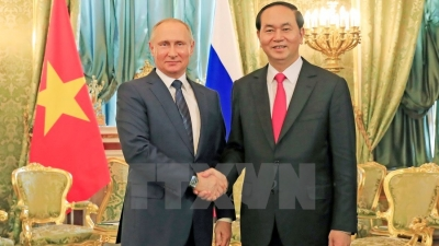 June 26 – July 2: President Tran Dai Quang pays State visits to Russia, Belarus