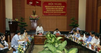 Deputy PM Truong Hoa Binh works with Quang Nam province