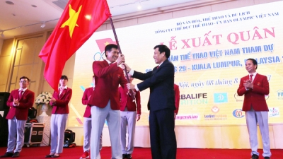 Vietnam holds send-off for delegation to 29th SEA Games
