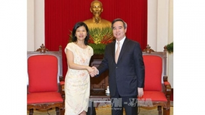 Party senior official meets Canadian, French ambassadors