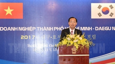 Ho Chi Minh City, RoK's Daegu enhance trade and investment cooperation