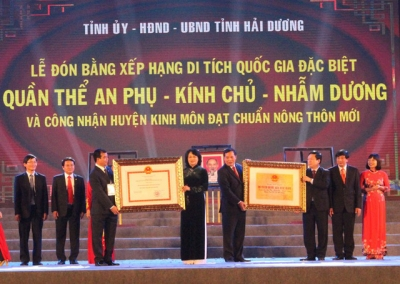 Kinh Mon recognised as new rural district in Hai Duong province