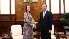 Vietnamese President welcomes IPU President's initiatives