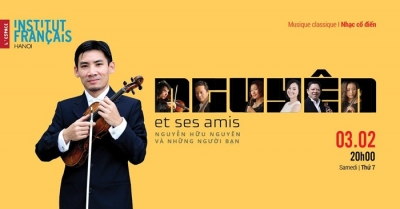 Violinist Huu Nguyen to perform in Hanoi