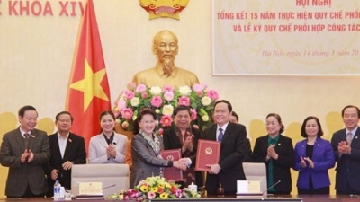 Vietnam National Assembly, Fatherland Front enhance coordination