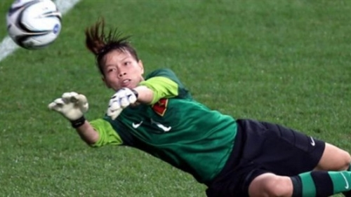 AFC website highlights female Vietnamese goalkeeper Dang Thi Kieu Trinh