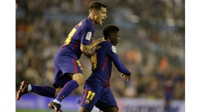 Under-strength Barca survive Celta fightback to stay unbeaten