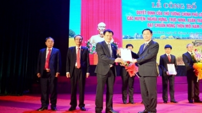 Nam Dinh's four districts recognised as new rural area