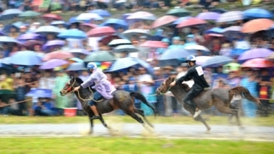 Horse race on the 'White Plateau' of Bac Ha