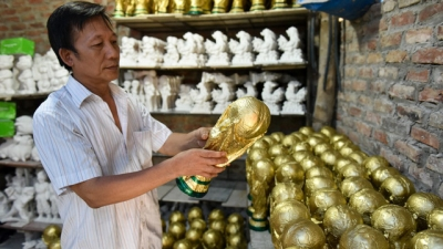 'Made in Vietnam' World Cup trophies satisfy football fans