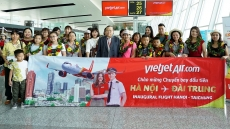 Vietjet welcomes first flight connecting Hanoi with Taiwan's Taichung