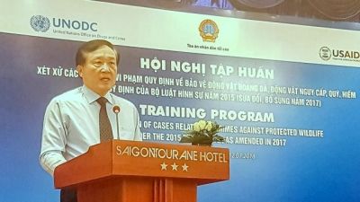 Training launched to improve Vietnam's handling of cases involving protected wildlife