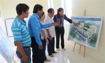 Tien Giang builds budget apartments for industrial park workers