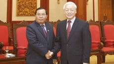 Party leader receives visiting vice chairman of Lao parliament