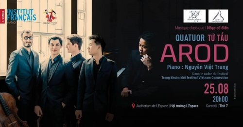 August 20-26: Classical Concert with Quatuor Arod and Nguyen Viet Trung in Hanoi