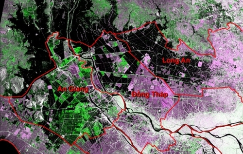 Flood in the Mekong Delta through satellite remote sensing