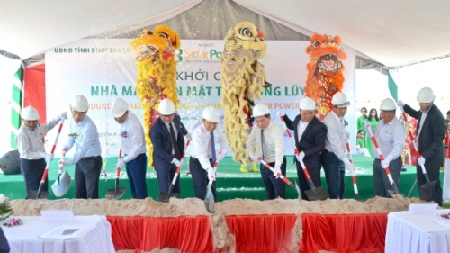 Work begins on Song Luy 1 solar power plant in Binh Thuan