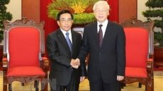 Party leader receives Lao Vice President