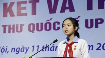 Vietnamese student wins third prize at international UPU contest