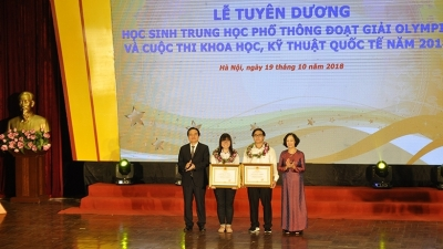 Outstanding students at international Olympiads honoured
