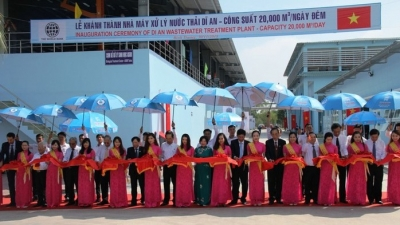 Another wastewater treatment plant inaugurated in Binh Duong