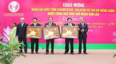 Dong Thap promotes investment with Lao provinces