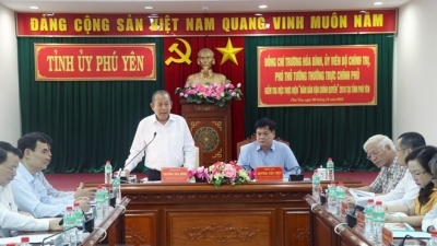 Permanent Deputy PM Truong Hoa Binh works with Phu Yen province