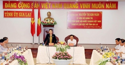 National Assembly leader hails Gia Lai province for socio-economic performance in 2018