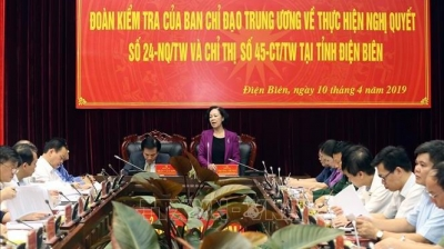 Politburo member works with Dien Bien province on ethnic affairs