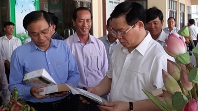 Deputy PM Vuong Dinh Hue works in Dong Thap province