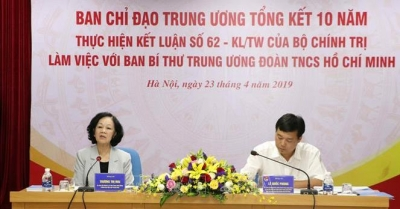 Politburo member Mai works with Youth Union and Hoa Binh province