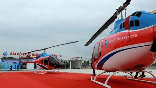 New heli tour launched in Ha Long Bay