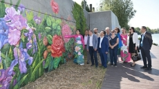 Vietnamese artists' mural painting inaugurated in France