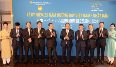 Prime Minister attends 25th anniversary of Vietnam-Japan air route